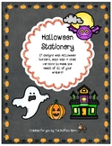 Halloween Stationery- Lined Writing Paper with Fun Borders to Color!