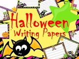 Halloween Writing Paper Pack - Writing Centers - Literacy Activities