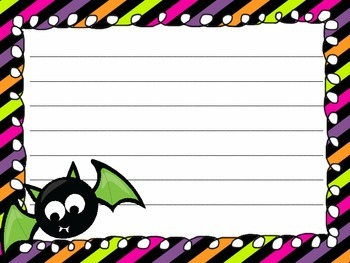 Halloween Writing Paper Pack - Writing Centers - Literacy Activities