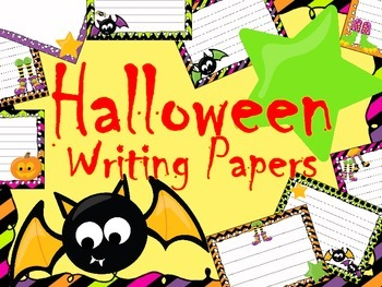 Halloween Writing Paper Pack - Writing Centers - Literacy