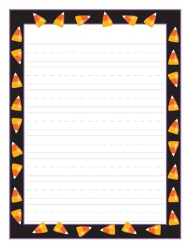 Halloween Writing Paper: Slime, Scary Monster Eyes, Candy Corn!