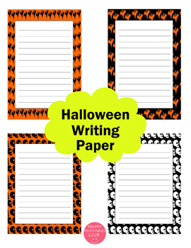 Halloween Writing Paper Stationary 30 Pages