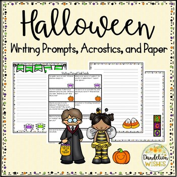 Halloween Writing Paper & Writing Prompts
