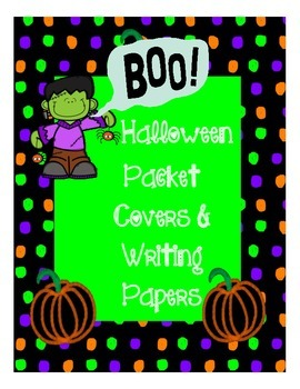 Halloween Writing Paper and Packet Cover
