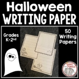 Halloween Writing Paper  K-2nd