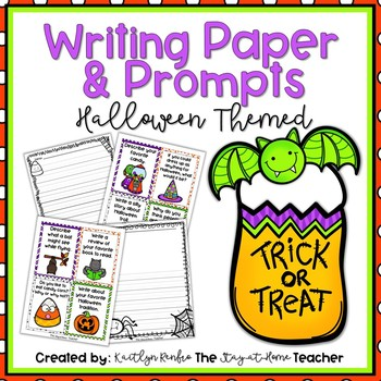 Halloween Writing Papers and Prompts
