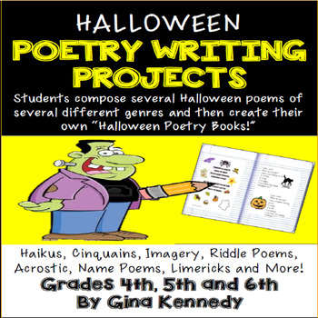 Halloween Poetry Writing Book Project, Their Own Halloween Poetry Book!