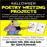 Halloween Poetry Writing Projects!  Students Compose Sever