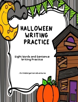 Halloween Writing Practice - Sight Words