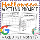 Halloween Writing Project: Make a Pet Monster!!  Distance Learning Ready!