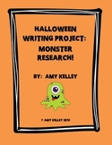 Halloween Writing Project: Monster Research!