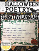 Halloween Writing Project Poetry ( Figurative Language / Parts of Speech )