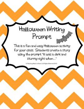 Halloween Writing Prompt Activity