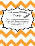 Halloween Writing Prompt Activity