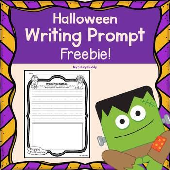Halloween Writing Prompt Freebie!