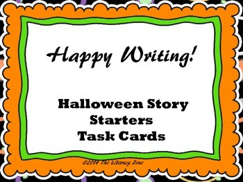 Halloween Writing Prompt Task Cards