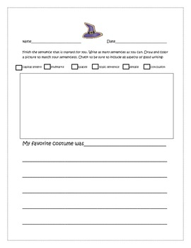 Halloween Writing Prompts 1-6