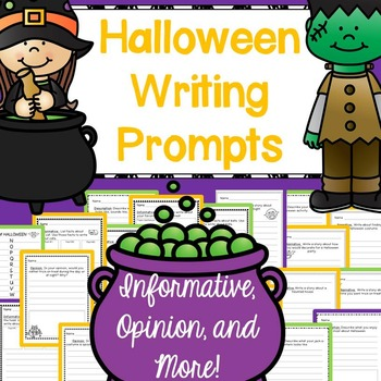 Halloween Writing Prompts: CCSS Informative, Opinion, Narr