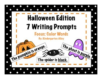 Halloween Writing Prompts: Color Words