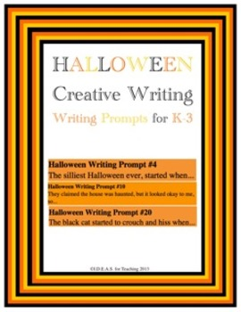 Halloween Writing Prompts (Common Core Aligned)