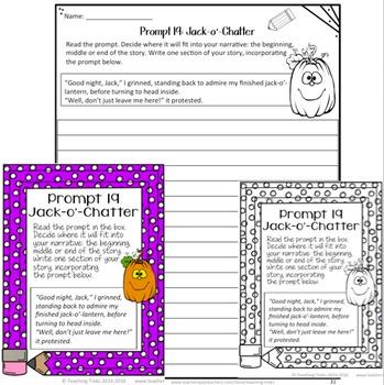 Halloween Writing Prompts FREE