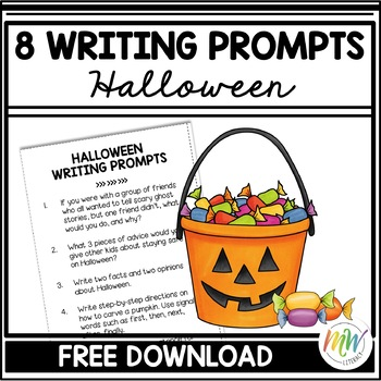 Halloween Writing Prompts (Free Download)