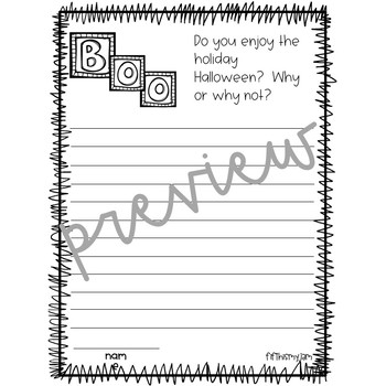 Halloween Writing Prompts Freebie