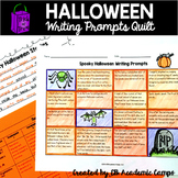 Halloween Writing Prompts Choice Board for Middle School D