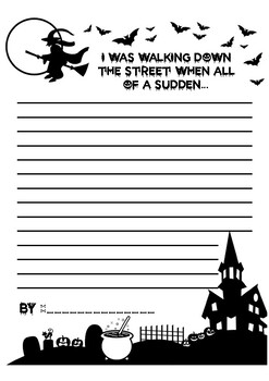 Halloween Writing Prompts (Imagined Narrative, Opinion, I/E)