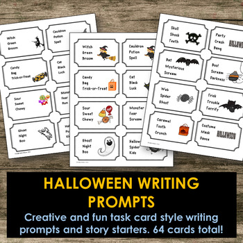 Halloween Writing Prompts - Short Story or Poetry Writing