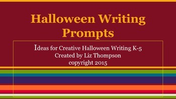 Halloween Writing Prompts K-5