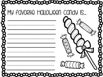 Halloween Writing Prompts (Kindergarten)