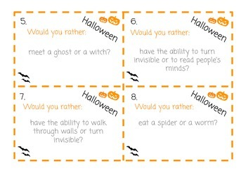 Halloween Writing Prompts! Literacy Center Activity