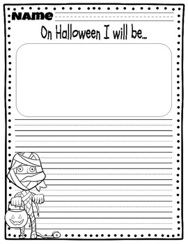 Halloween Writing Prompts (PRIMARY LINES)
