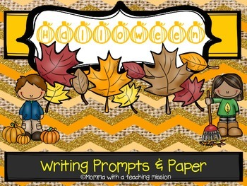 Halloween Writing Prompts & Paper