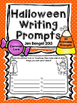 Halloween Writing Prompts: Printable Common Core Writing Prompts for Literacy