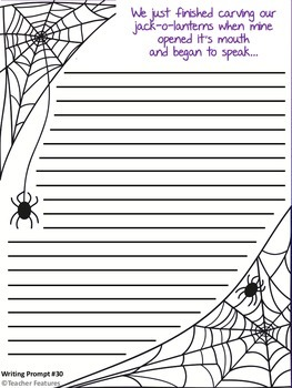 Halloween Writing Prompts DESCRIPTIVE WRITING No Prep