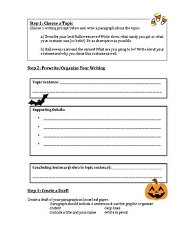 Halloween Writing Prompts and Graphic Organizer