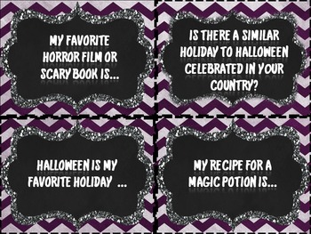 Halloween Writing Prompts for ELLS