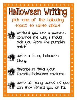Halloween Writing Prompts for Elementary Students