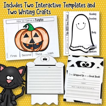 Halloween Writing Prompts for Kindergarten, First Grade and Second Grade