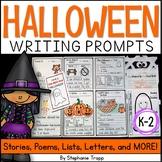 Halloween Writing Prompts for Kindergarten, First Grade an