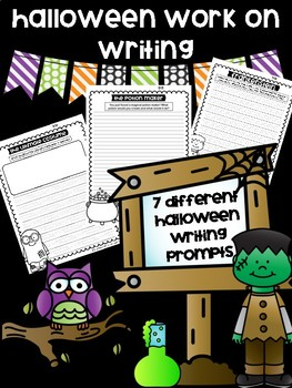 Halloween Writing Prompts for Work on Writing