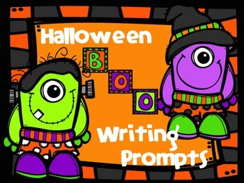Halloween Writing Prompts in a Jar
