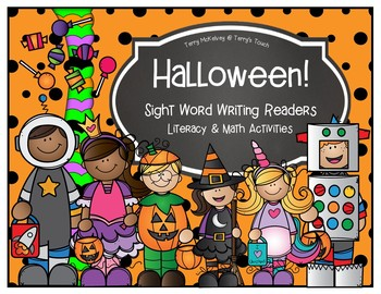 Halloween Writing Readers Math and Literacy Activities