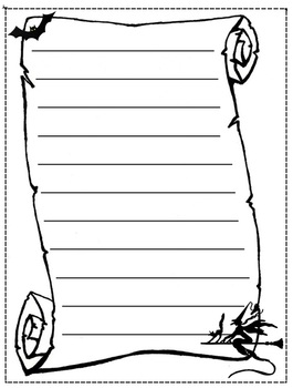 halloween writing response template stationary by james whitaker