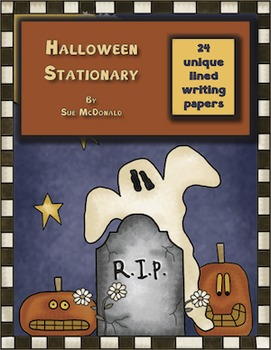 Halloween Writing Stationary Bundle - 24 Styles - High Quality Colored Graphics