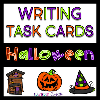 Halloween Writing Task Cards