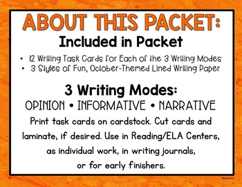 Halloween Writing Prompts and Activities