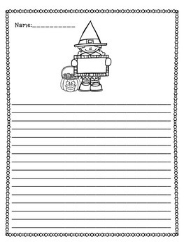 Halloween Writing Task Cards and Creative Stationary